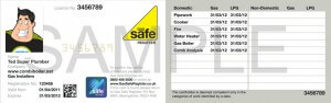 Gas Safe ID card sample - www.combiboiler.net