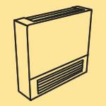 Low surface temperature radiator