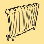 Rolled top radiator